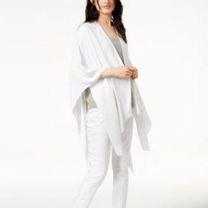 Calvin Klein Ombre Metallic Shawl Wrap Eggshell OS